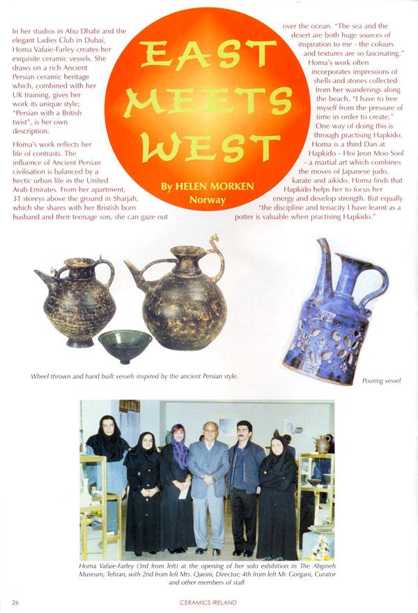 Ceramics Ireland, 2006